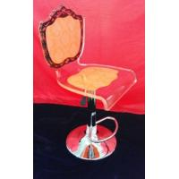 Buy cheap Adjustable Orange Modern Acrylic Furniture / Acrylic Chair , Laser Engraved from wholesalers
