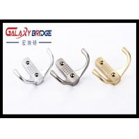 Buy cheap Solid Gold Cloth Hanging Cap Hooks , Zinc Alloy Silver Decorative Wall Mounted Back Holders from wholesalers