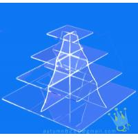 Buy cheap CD (105) 4 tier acrylic square cake stand from wholesalers