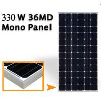 Buy cheap 43.2V Mono Silicon Solar Panels 330W , Solar Pv Module High Transmission Glass from wholesalers