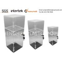 Buy cheap Clear Plastic Shelves For Display With Lock Plastic Injection Moulding Process from wholesalers