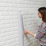 Buy cheap White Color 3d Foam Decorative Wall Art Pvc Wallpaper 3d Brick Wall Panels from wholesalers
