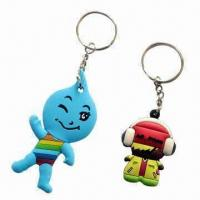 Buy cheap Keychains for Promotional Gift with Silicone Material, Customized Logos Welcomed, 200 pieces MOQ from wholesalers
