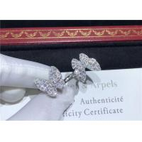 Buy cheap 18K White Gold Van Cleef And Arpels Butterfly Ring With 70 Diamonds product