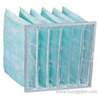 Buy cheap Synthetic Fiber Medium aluminum alloy Frame HVAC Air Filters pocket air filter for Dust filter from wholesalers