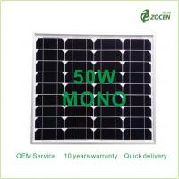 Buy cheap Monocrystalline 50W Solar Panels Works in Sunny Overcast Conditions from wholesalers