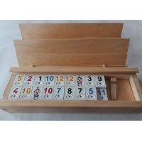Buy cheap Unfinished Wooden Box With Sliding Lid Custom Shape For Poker Cards from wholesalers
