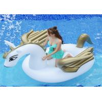 99'Golden Pegasus Inflatable Pool Floats Golden color unicorn water Float For 2-3 persons