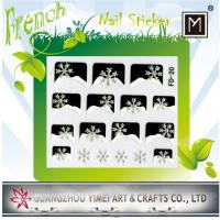 Buy cheap 2012 New Design custom Removable 3D Art French Nail Sticker for Finger Tip from wholesalers