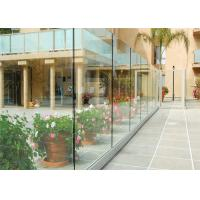 Buy cheap Outdoor Frameless U Channel Tempered Clear Glass Railing For Balcony from wholesalers