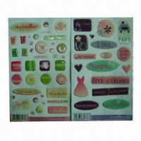 Buy cheap Dome Epoxy Stickers, Easy to Apply and Remove, Eco-friendly, OEM and ODM Orders product