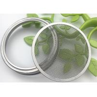 Buy cheap 82mm / 86mm 304 Stainless Steel Sprouting Jar Strainer Lid For Growing Organic Spouts from wholesalers