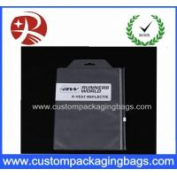 Buy cheap Button Zipper Pvc Cosmetic Bag , Pvc Clothing Bag 0.1MM TO 0.2MM Thick from wholesalers