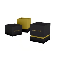 Buy cheap Professional Factory Printed Candle Packaging Cardboard Candle Gift Box With Texture Paper from wholesalers