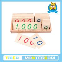 Buy cheap Montessori math materials,wooden toys,Large Wooden Number Cards With Box (1-1000) from wholesalers