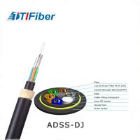 Buy cheap Lightweight Fiber Optic Network Cable 24 48 Core ADSS Outdoor Aerial Low Friction Sheath product