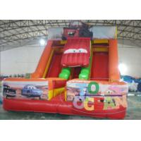 Buy cheap Party Game Equipment Inflatable Dry Slide Super Car Shaped 0.55m PVC For Kids from wholesalers