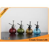 Buy cheap Sprayed Pumpkin Shaped Glass Storage Jars with Lids , Glass Watering Can For Potted Plant from wholesalers
