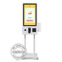 Buy cheap Restaurant 32 Touch Screen LCD Food Ordering Self Service Payment Kiosk with Meal Call Pager Holder from wholesalers