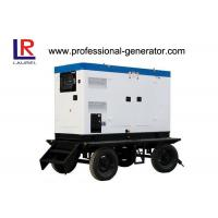 Buy cheap Soundproof Portable Diesel Mobile Power Generator 25kva Cummins Engine from wholesalers