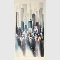 Buy cheap Modern Acrylic Cityscape Painting on canvas Decorative For House from wholesalers