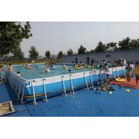 Buy cheap Summer Metal Frame Swimming Pool Large Set Custom Steel Frame Pool For Holiday from wholesalers