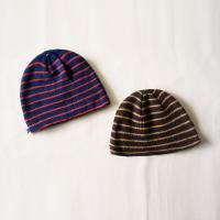Buy cheap Fashion deluxe simple winter striped pattern Knitted Beanies knitting crochet cap for teenagers kids from wholesalers
