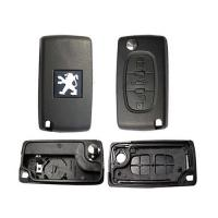 Buy cheap PEUGEOT 407 3button Flip Key Case smaller size from wholesalers