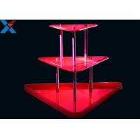 Buy cheap Crystal Clear Acrylic Display Stands 3 Layer Lucite Wedding Wine Stand from wholesalers