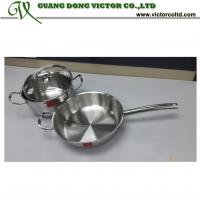 Buy cheap High quality Tri-ply stainless steel cookware set 22cm pot 26cm frying pan from wholesalers