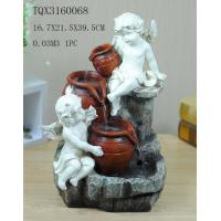 Buy cheap Angel Hand Painting Polyresin Water Fountain Landscape Electricity Power from wholesalers