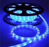 Buy cheap Blue PVC Covered Waterproof Outdoor Energy Saving LED Neon Rope Light for Streets 220V from wholesalers