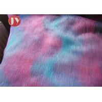 Buy cheap Mixed Color Plush Faux Fur Fabric Fluffy 45mm Pile Home Decoration Bedding from wholesalers