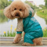 Buy cheap Dark green Polyester dog jumpsuits for winter Eco-Friendly personalized pet clothes from wholesalers