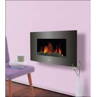 """Buy cheap 35""""Black Curved Tempered Glass Wall Mounted Electric Fireplace Heater(Log Fuel) EF430S/EF431S LED FLAME ROOM HEATER product"""