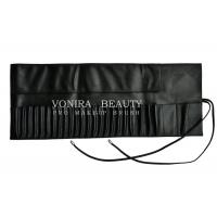 Buy cheap Portable 26 Pockets Travel Makeup Brush Rolling Case Pouch Holder Cosmetic Bag Black Leather from wholesalers