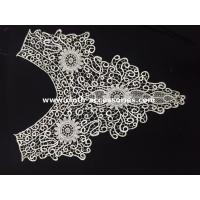 Buy cheap Cotton Chemical Embroidery Wide Lace Collar Customized For Garment Accessories from wholesalers