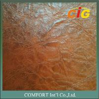Buy cheap Embossed and Print Design PU leather 0.8mm / 1.2mm Thick For Sofa/Auto Seat Use product
