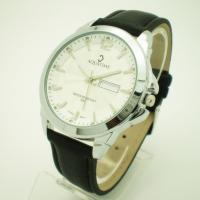 Buy cheap Men's Classic Case Design PU Leather Strap Watches with Customizes Logo from wholesalers