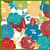 Buy cheap Flower blooming heat transfer printing tablecloth made of 120gsm polyester fabrics from wholesalers