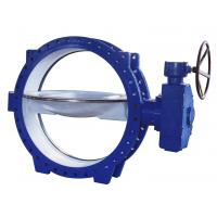 Buy cheap Double Eccentric Flanged Butterfly Valves stainless steel , Tri - Eccentric  Butterfly Valve from wholesalers