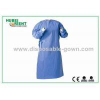 Buy cheap Against Liquid permeation Disposable Surgical Gowns , Dark Blue from wholesalers