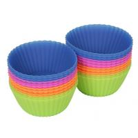 Buy cheap 24-pack Reusable Silicone Baking Cups / Cupcake Liners from wholesalers