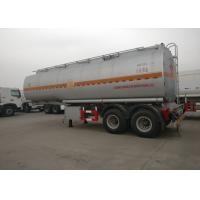 Buy cheap Double Axles Heavy Duty Semi Trailers , Oil Fuel Tank Trailer 35CMB Tank Capacity from wholesalers