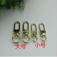 Buy cheap Good quality lacquer coating zinc alloy 10 mm & 13 mm round shape gold snap hook metal for purse from wholesalers