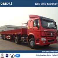 Buy cheap 40ft flatbed truck trailer , 18 wheeler flatbed truck trailer from wholesalers