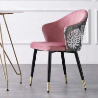 Buy cheap Backrest Nordic Dining Chairs Colourful Velvet Square Seat Cafe Side Optional Colour from wholesalers