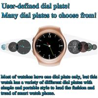China MTK2502C 1.3 Inches HD IPS Round-shaped Screen Smart Watch Phone Supports GSM quad-band SIM card and TF card on sale