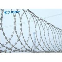 Buy cheap Razor Blade Fencing Wire Razor Barbed Wire , Razor Ribbon Wire Stainless Steel from wholesalers