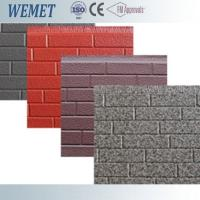 Buy cheap 16mm thickness metal facade polyurethane foam decorative exterior wall panel customized from wholesalers